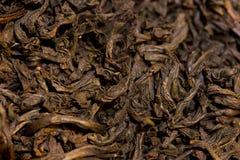 Macro van droge theebladen wordt geschoten dat royalty-vrije stock foto