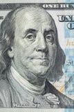 Macro van een dollar die 100 wordt geschoten Stock Foto's
