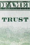 Macro van een dollar die 100 wordt geschoten Royalty-vrije Stock Afbeelding