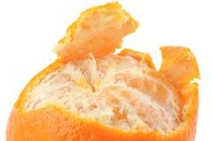 Macro van een gepelde mandarijn Royalty-vrije Stock Foto's