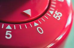 Macro van een Keukenzandloper - 0 Minuten - 1 uur Stock Afbeeldingen