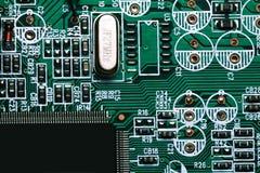 Macro van elektronische spaander stock afbeeldingen
