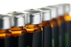 Macro van flessen Royalty-vrije Stock Afbeelding
