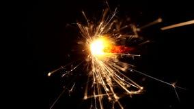 Macro van het branden van sterretjes stock video