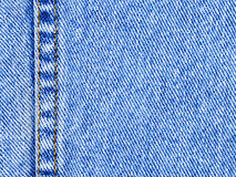 Macro van (het Horizontale) Materiaal van de Jeans van het Denim Stock Fotografie