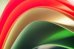 Macro van kleurrijke bladen van document Royalty-vrije Stock Foto's