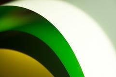 Macro van kleurrijke bladen van document Royalty-vrije Stock Afbeeldingen