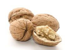 Macro van nutmeat en noten Stock Afbeeldingen