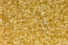 Macro van ongeraffineerde niet gebleekte Kristallijne suiker in bruin kristal Royalty-vrije Stock Foto