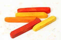 Macro van pastelkleurstokken Stock Fotografie