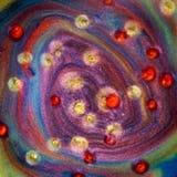 Abstract mengsel van pigment Royalty-vrije Stock Afbeelding