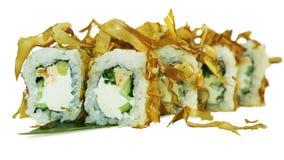Macro van sushi wordt geschoten die Japans restaurant, sushi, oosterse traditie Royalty-vrije Stock Foto