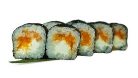 Macro van sushi wordt geschoten die Japans restaurant, sushi, oosterse traditie Royalty-vrije Stock Afbeelding