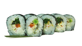 Macro van sushi wordt geschoten die Japans restaurant, sushi, oosterse traditie Royalty-vrije Stock Fotografie