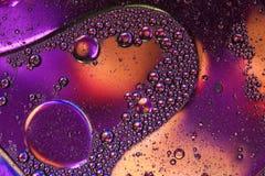 Macro van vloeistof of lucht wordt geschoten die abstracte sctructure van de glasmolecule, macro geschotene 3d geeft met diepte v Stock Afbeelding