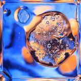 Macro van vloeistof of lucht wordt geschoten die abstracte sctructure van de glasmolecule, macro geschotene 3d geeft met diepte v Royalty-vrije Stock Afbeelding