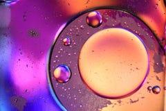 Macro van vloeistof of lucht wordt geschoten die abstracte sctructure van de glasmolecule, macro geschotene 3d geeft met diepte v Stock Afbeeldingen