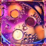 Macro van vloeistof of lucht wordt geschoten die abstracte sctructure van de glasmolecule, macro geschotene 3d geeft met diepte v Royalty-vrije Stock Fotografie