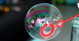Macro variopinta della bolla di sapone video d archivio