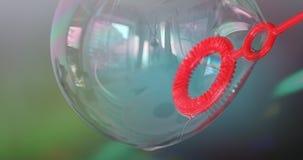 Macro variopinta della bolla di sapone stock footage