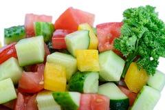 Macro vegetariana dell'insalata di dieta deliziosa Fotografia Stock