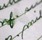 Macro velho da letra Fotografia de Stock