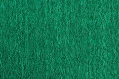 Macro verde de la textura del paño Imagen de archivo