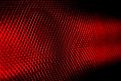 Macro vermelho da tela do indicador Imagens de Stock