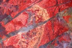 Macro vermelho da textura do jaspe Fotografia de Stock