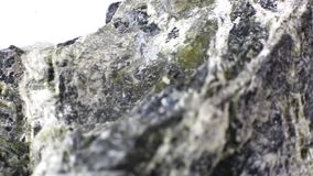 Macro video dell'amianto minerale stock footage