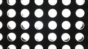 Macro video LEIDENE lamp met veranderlijke helderheid stock video