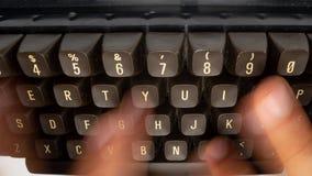 Macro video of vintage keyboard