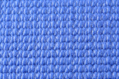 Macro view of a blue yoga mat Stock Photography