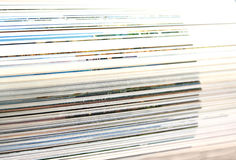 Macro view of book pages Stock Photography