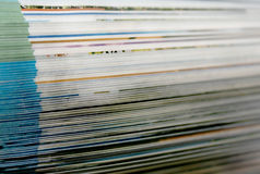 Macro view of book pages Stock Image