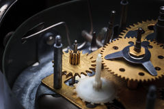 The macro view of clock mechanism Royalty Free Stock Photography