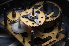 The macro view of clock mechanism Stock Photos