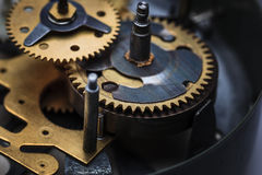 The macro view of clock mechanism Royalty Free Stock Images