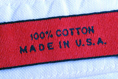 Macro view of the clothing label Stock Photography