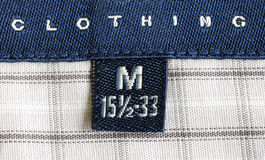 Macro view of the clothing label Royalty Free Stock Image