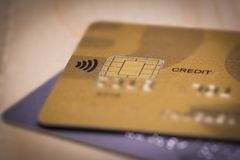 Close up view of a Credit card Royalty Free Stock Images
