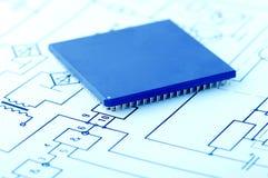 Macro view of cpu pins Stock Image
