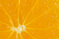 Macro view of fresh orange slice Stock Photo