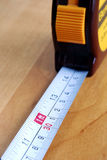 Macro view of a measuring tape Royalty Free Stock Image