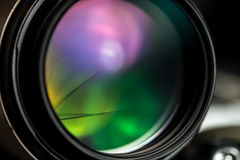 Macro view of photo lens Stock Photo
