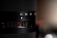 Macro view of photo lens Stock Photography
