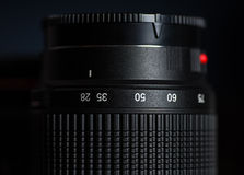 Macro view of photo lens Stock Photos