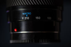 Macro view of photo lens Stock Images