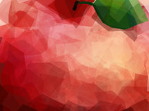 Macro view of red apple stock illustration
