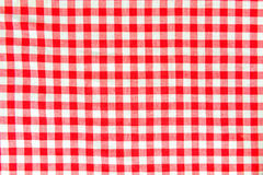 Macro view of red and white vichy pattern Stock Photography